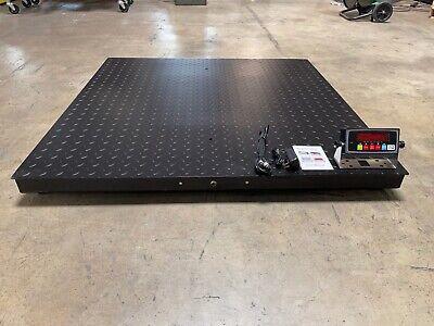 New Floor Scale Pallet Size Rs-232 Port 5000 X 1 Lb 48 X 48 4 X 4