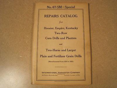 Mccormick Hoosier Empire Horse Planter Parts Manual Ih