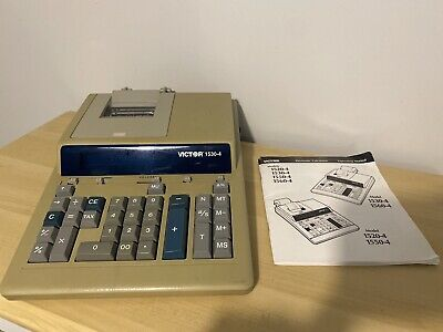 Vtg Victor 1530-4 Large Desk Calculator Printer Machine Retro Rare Office Manual
