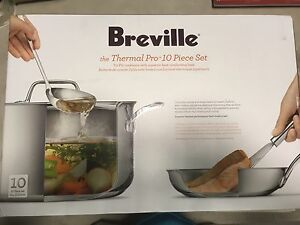 Breville 10 pcs Thermal Pro Cookware Set - Brand New