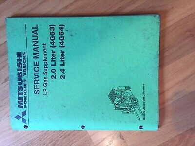 Mitsubishi Engine Lp 2.0 2.4 Series Forklift Service Manual Truck