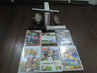 Nintendo Wii System/Console Wii Sports Family Fitness Bundle With Smash Bros+