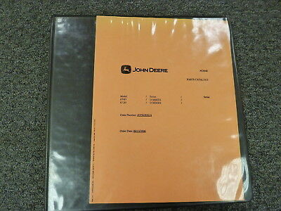 John Deere 670d 672d Motor Grader Parts Catalog Manual Book Pc9448
