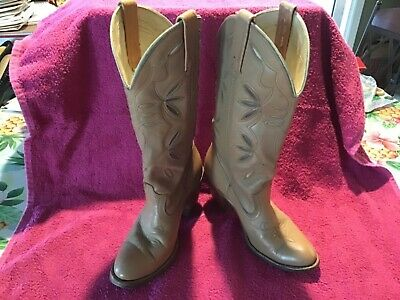 Acme Dingo Women's Flower Inlay Cowboy Boots Vintage Sz 5 1/2 M Made in USA