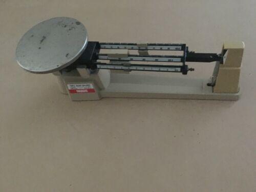 Ohaus Triple Beam Balance 700 800 Series 2610 g 5 lb 2 oz Scale Metal Vintage
