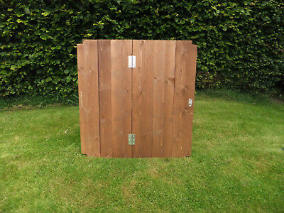 Big Square Wooden Compost Bin Lid Gardening Works Timber Composter 1.2m x 1.2m