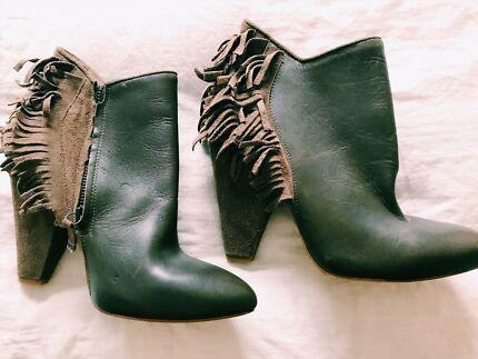 Wanted: Zara tassel block heel boots