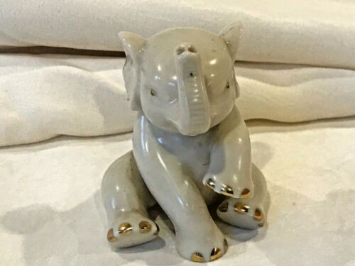 ELEPHANT FIGURINE CERAMIC/PORCELAIN VINTAGE by LENOX