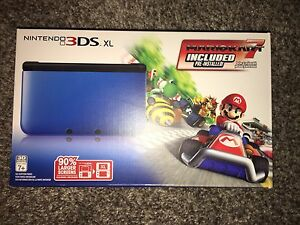 Nintendo 3ds xl with pre-installed mario kart 7
