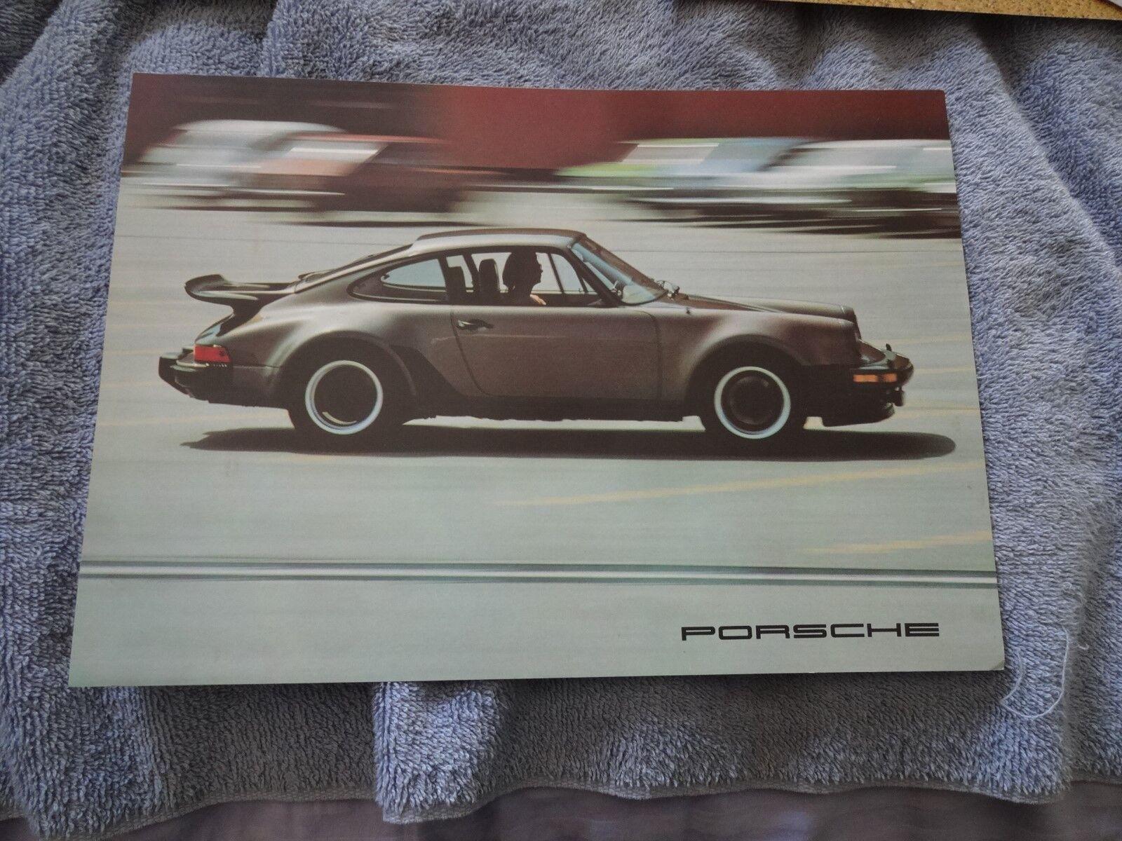 1976 Porsche 911 Turbo Carrera 912E  911S Factory Brochure oem xlnt