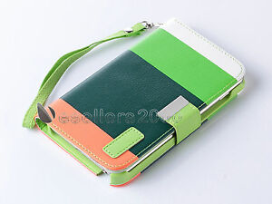 Hybrid PU Leather Flip Pouch Case Cover For Samsung Galaxy NOTE I717 N7000 I9220