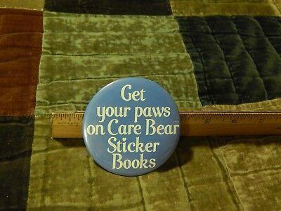 '80s Pizza Hut ~ Care Bear Sticker Books Promo ~ BUTTON_PIN ~ Vtg Ltd HTF