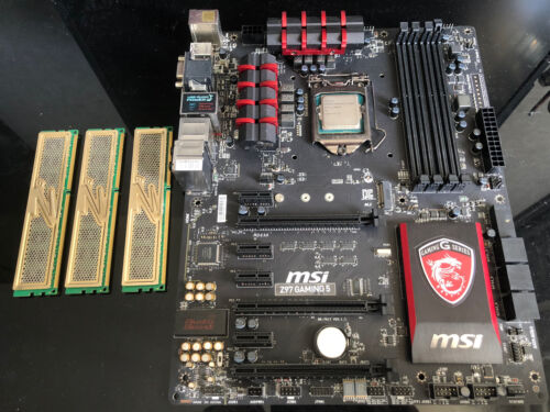 Kit carte mère msi z97 gaming 5 + celeron g1450 + 6go ram