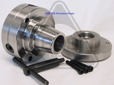 Bostar 5c Collet Lathe Chuck Closer With Semi-finished Adp. 1-12 X 8 Thread