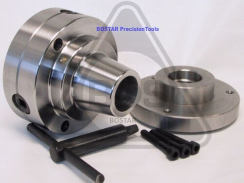 "BOSTAR  5C Collet Lathe Chuck Closer With Semi-finished Adp. 1-1/2"" x 8 Thread"