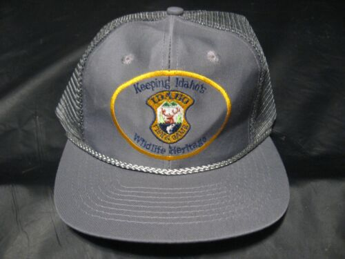 Vintage Idaho Fish & Game Wildlife Heritage Security Warden Police Trucker Hat