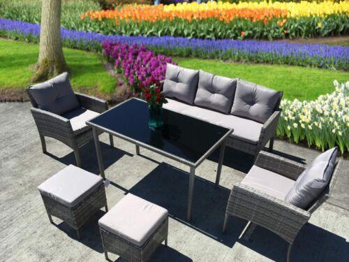 Garden Furniture - NEW RATTAN GARDEN WICKER OUTDOOR CONSERVATORY SOFA FURNITURE SET CUBE DINING SET