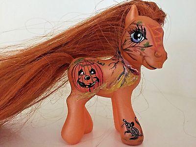"CUSTOM PAINTED MY LITTLE PONY ""PUMPKIN"" ONE OF A KIND](My Little Pony Halloween Pumpkin)"