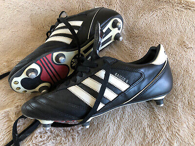 Adidas Kaiser 5 Cup Football Boots Leather Size 7 Black Sg
