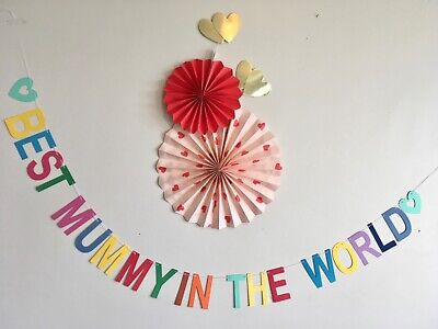 Mother's Day bunting, Mother's Day banner bright colours party decoration