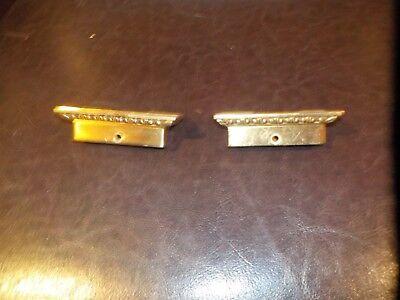National Cash Register ORIGINAL Bronze Small End Caps NCR