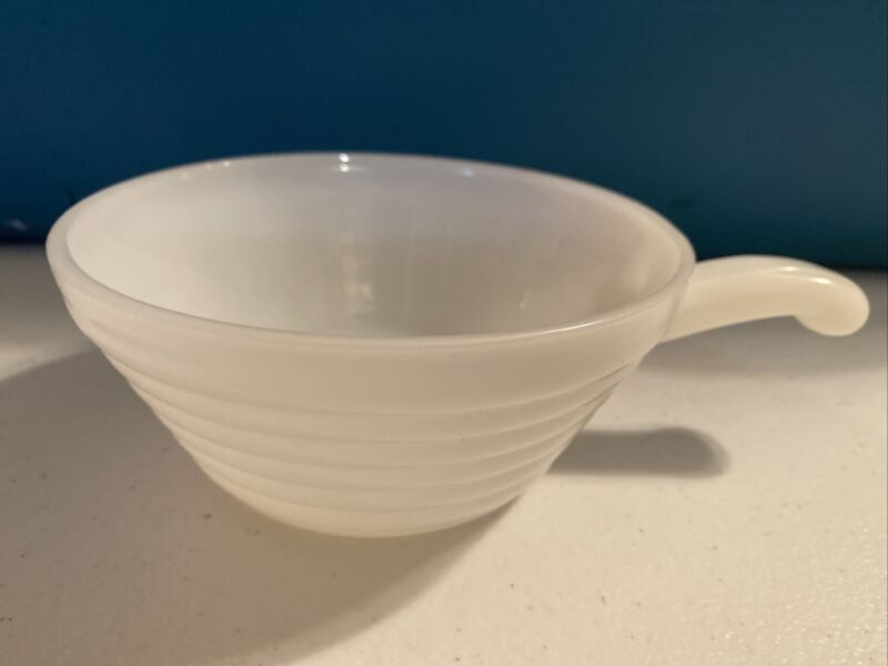 Oven Wear Fire King #13 Handled Soup Bowl White