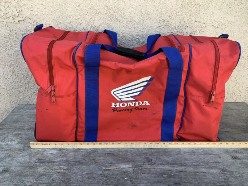 Vintage Honda Racing Team Duffel Bag Motorcycle Gear Boot Chute 1980s 1990s