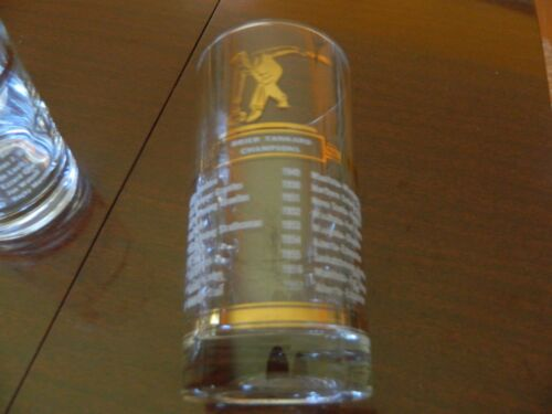 1950s Canadian Brier Tankard glass ALL WINNERS 1938-57 Gold Detail All Original