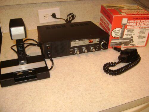 Realistic Navaho TRC-433 40 Channel CB Base Station w/Amplified Desk Mike W/Box