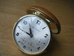 Vintage Westclox Travel Alarm Clock Japan 4 Time Zone Display