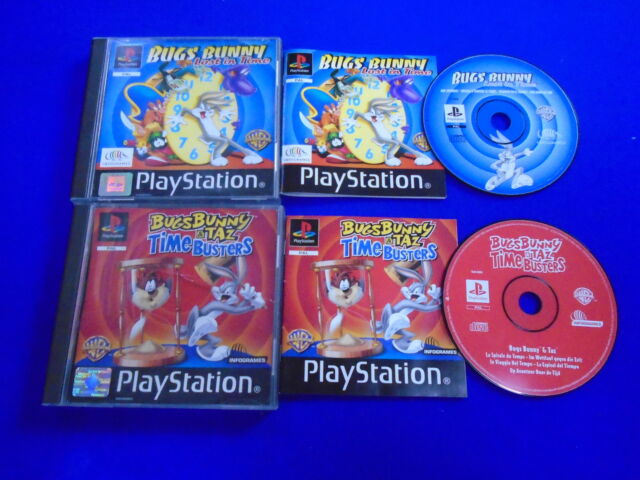 ps1 BUGS BUNNY x2 Lost in Time & TAZ Time Busters ** Games PAL Playstation ps3