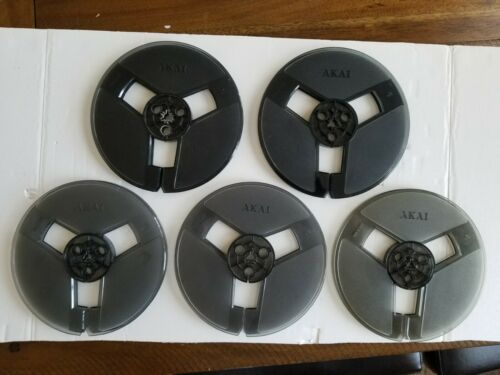 "AKAI 7"" Plastic Take Up Reels/Smoke Colored/5 Pieces."