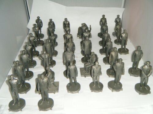 Walt Disney World Hall of Presidents Pewter Figurine Set, Full Set 37 Calhouns