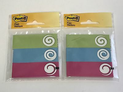 2 Lot Post-it Page Marker Flags 1 In X 3 In 3 Pads With 50 Flags Each