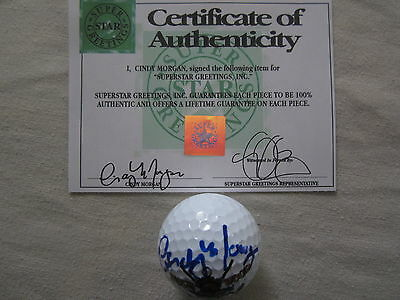 Cindy Morgan autographed signed auto Caddyshack Bushwood CC logo golf ball (SSG)