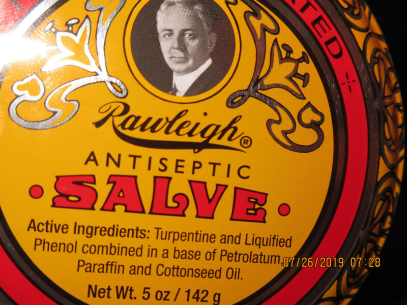 WT Rawleigh Antiseptic Salve, 4.5 Ounce Tin (Brand New Tin)