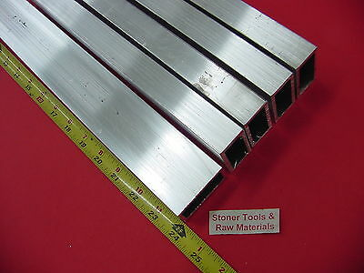 5 Pieces 1x 2x 18 Wall Aluminum Rectangle Tube 6063 T52 X 24 Long .125 W
