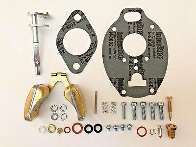 John Deere M Mc Mt 40 320 330 Carburetor Repair Kit W Throttle Shaft Float
