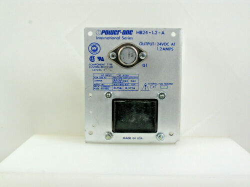 ONE! POWER-ONE HB24-1.2-A 24VDC 1.2A LINEAR POWER SUPPLY