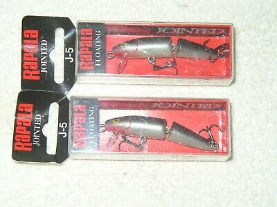 "rapala jointed j-5 j05 ft firetiger floating minnow lure 2/"" 1//8oz"