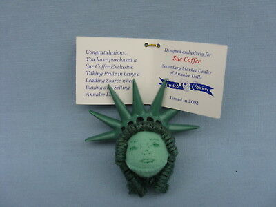 "982002 SUE COFFEE EXCLUSIVE NEW 3/"" ANNALEE STATUE OF LIBERTY ORNAMENT"