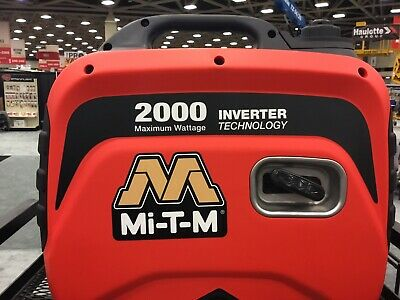 Mi-t-m Gen-2000-imm0 Portable Generator Inverter 2000w 12v Used Quiet Commercial