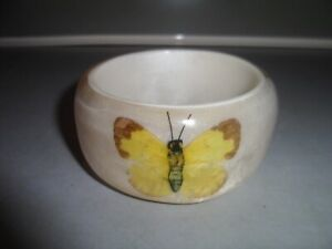 WOMEN'S REAL DRIED BUTTERFLIES SET IN RESIN BANGLE
