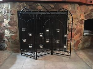 Candle holder screen