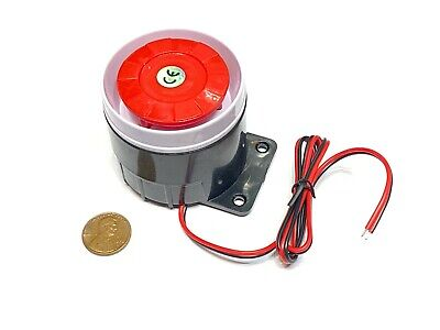 Continuous Sound Decibel Piezo Buzzer Ic Alarm Dc 12v 120db Black Red A12