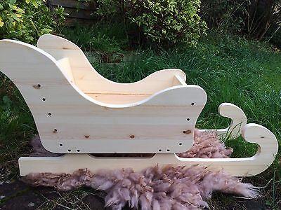 Christmas Sledge Newborn Photo Prop Baby Posing Sleigh