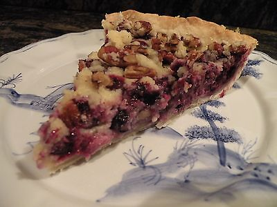 Low Fat Blueberry Pie With Pecan Topping Recipe  Skinny Pie Crust Recipe Too