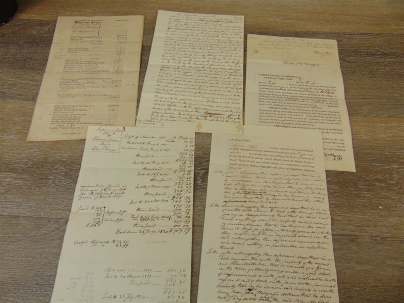 1821/1824 NEW YORK SUPREME COURT TRIAL DOCUMENTS Accounting Indenture Testimony