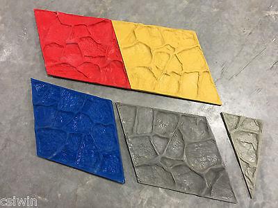 Boulder Face - Vertical Concrete Stamp Set For Seatwalls