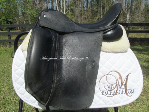 """17"""" CUSTOM SADDLERY EVEREST MONOFLAP dressage saddle- buffalo leather/wool flock"""